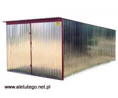 Garaż blaszany blaszak ocynkowany rozmiary 2x3 3x5 4x5 5x5 stalowy ocynkowany montaż transport